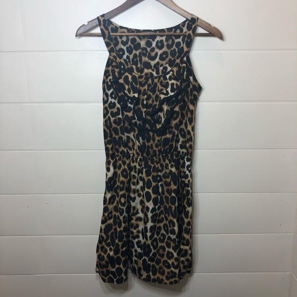 Express Dresses & Skirts - Express leopard ruffle dress
